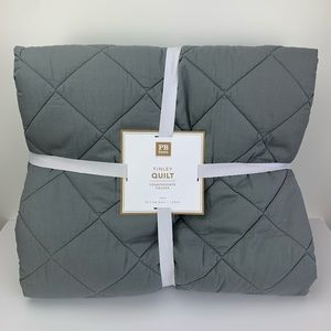 Pottery Barn Teen Finley Quilt Grey Size Twin NEW!